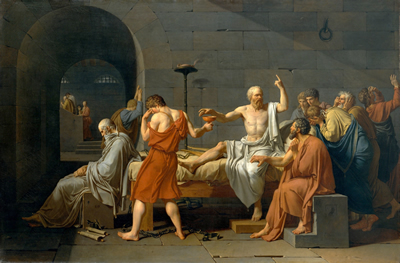Jacques-Louis David's painting Death of Socrates