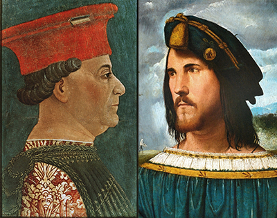 Francesco Sforza and Cesare Borgia