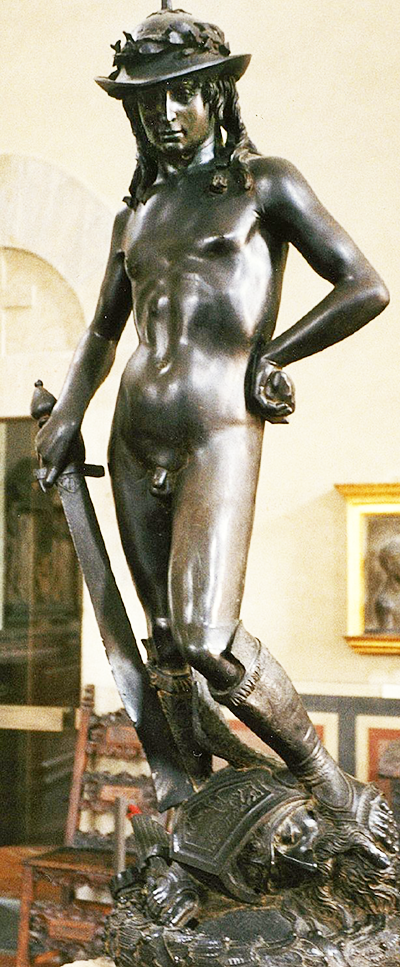 Donatello's David, probably commissioned by Cosimo de' Medici