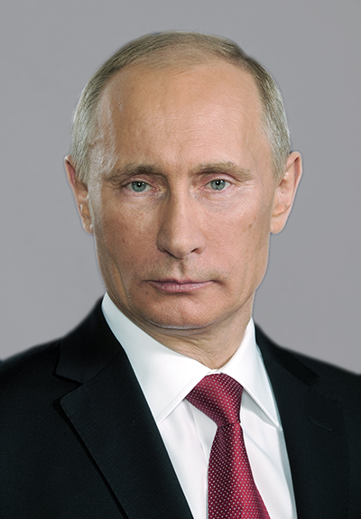 Vladimir Putin, not looking like a neutral party