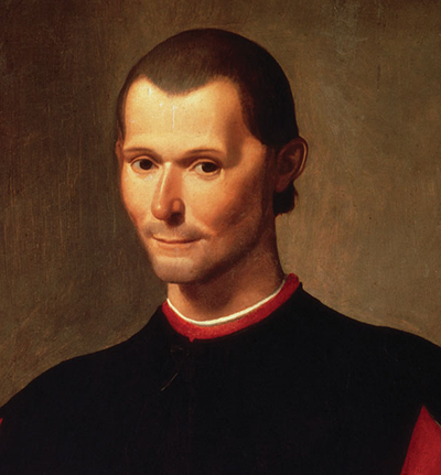 Machiavelli with wry smile.